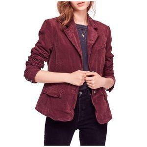 Free People Byron Corduroy 2-Button Blazer Jacket